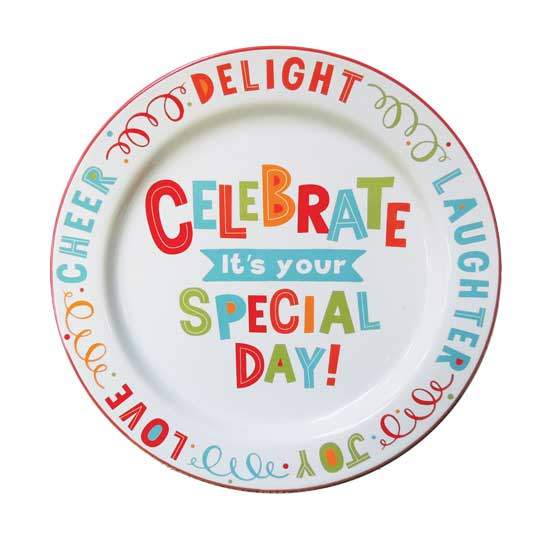 PLATE201 Celebrate Your Special Day Plate