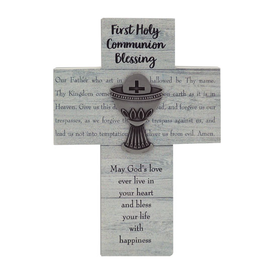 WC371 First Communion Wall Cross