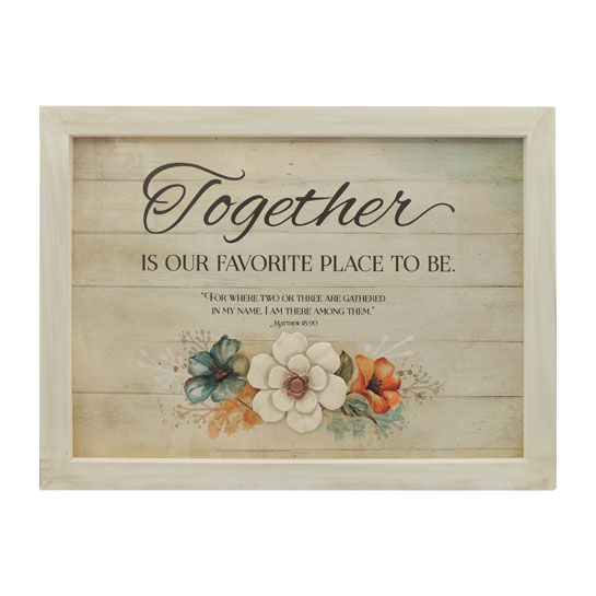 WP544 Gather Together Wall Plaque